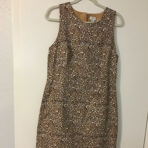 J.Crew Basketweave sheath dress in animal print